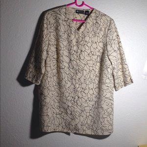 Ladies' Maggie Barnes Blouse w/ 3/4 Sleeves (16W)
